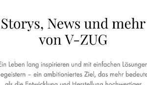 V-ZUG Porträtserie